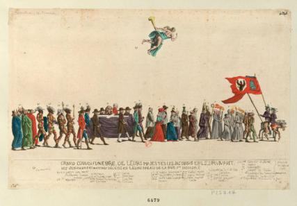 A satirical funeral procession for the Jacobins 1792
