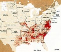 African Americans and Slavery 1860s map