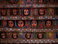 angels on the ceiling of debre Berhan Selassie Church
