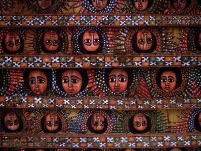 angels on the ceiling of debre Berhan Selassie Church
