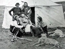 "General Custer and his ""favorite"" scouts"