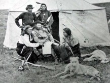 """General Custer and his """"favorite"""" scouts"""