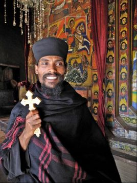 Ethiopian Orthodox Christianity Saint George image behind