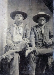 Father-Son c 1860-1870 Chickasaw-African heritage