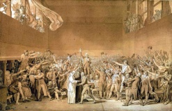 Jacques-Louis David's The Tennis Court Oath an event which occurred on 20th June 1789 and 1791