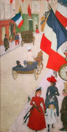 Paris, Rue de Parme on Bastille Day, 1890, oil on canvas by Pierre Bonnard