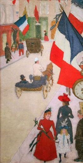 Paris, Rue de Parme on Bastille Day, 1890, oil on canvas by Pierre Bonnard
