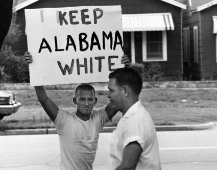 Student at Montgomery High School protest intergration, 1963