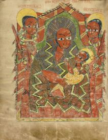 The Virgin and Child with the Archangels Michael and Gabriel Ethiopian about 1504 to 1505