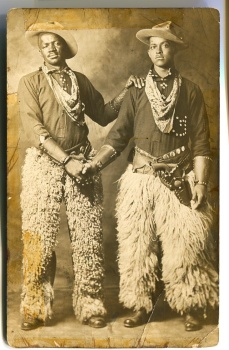 Two Cowboys in chaps, 1913