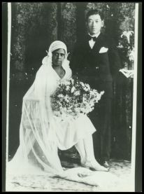 Black woman & Japanese man 1920's