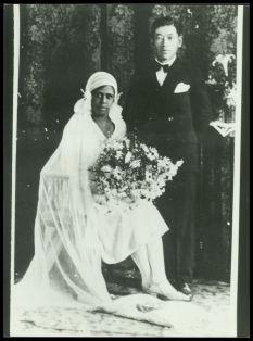 Black woman & Japanese man 1920's