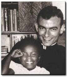 Jonathan Daniels, a minister who answered Dr. King's call to come to Selma, Alabama to support the Selma to Montgomery March. He was one of the few who stayed back after the march was over and was shot point blank in the chest by a deputized segregationist while trying to buy his fellow black protesters a Coca Cola.