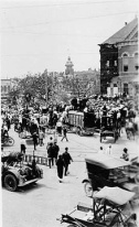 On May 15, 1916 Jesse Washington was lynched in Waco TX. Over 10,000 spectators, including city officials and police, gathered to watch the attack. Many children used their lunch hour to attend. NAACP journalist W. E. B. Du Bois published an in-depth report featuring photographs of Washington's charred body in The Crisis, and the publicity it received helped curb public support for the practice, which became viewed as barbarism rather than an acceptable form of justice.