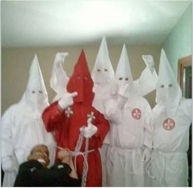 "PA Men Dress Up As KKK Lynching President Obama at ""Hillbilly Haven"" This is why America is so divided..pure hate!!! This racial hate infiltrates the main artery of our nation. We need to stop the bleeding."