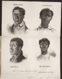In 1841, 4 black menM Henderson, A Warrick, J Seward, and C Brown were put on trial; convicted and sentenced to death. They were hanged on July 9, 1841. Tickets for a steamboat excursion to watch the executions on Duncan's Island, sold for $1.50 to about 20,000 people, or 75 percent of St. Louis's population at the time. *With rising tension of race/ slavery it ended with the severed heads of the four hung in the front window of Corse's Drug Store to deter Black resistance