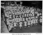 First Massive African American Protest in American History - July 28, 1917 - Children in New York City Participating in the Silent Protest Parade against the East St. Louis Riots. The riots in East St. Louis began when whites, angry because African Americans were employed by a factory holding government contracts, went on a rampage. Over 400,000$ worth of property was destroyed. At least 40 African Americans were killed. Men, women and children were beaten, stabbed, hanged and burned.