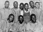 The Scottsboro Boys were nine Black teenage boys (the youngest was 13 and the oldest was 19) accused of rape in Alabama in 1931. The landmark set of legal cases from this incident dealt with racism and the right to a fair trial. The case included a frameup, an all-White jury, rushed trials, an attempted lynching, an angry mob, and is an example of an overall miscarriage of justice