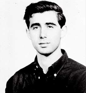 Andrew Goodman, killed by the KKK in 1964 during the Mississippi Freedom Summer, while registering black citizenss to vote