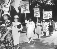 Anti-lynching demonstration by the National Association of Colored Women.