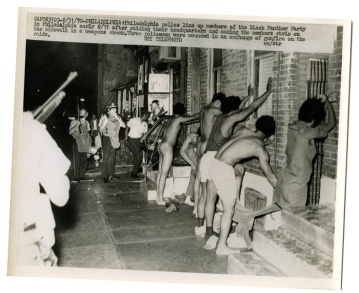 August 31 1971 Philadelphia police line up members of the Black Panther Party in Philadelphia