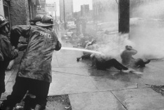 Birmingham, Alabama, 1963. Civil rights protesters getting hosed.