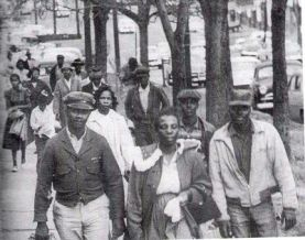 Black Residents Walking, Montgomery Bus Boycott, 1955
