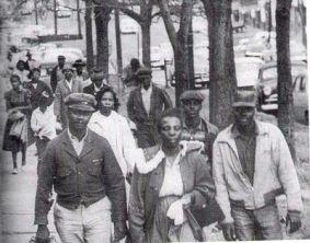 Black Residents Walking, Montgomery Bus Boycott, 1955
