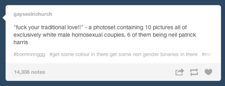 On gay pride
