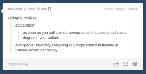 On white people's reactions to being called racist