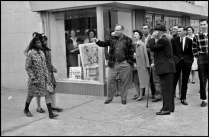 hecklers insult two black women who are part of a voting rights drive. Selma Alabama 1965
