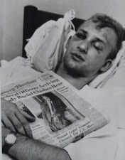 Jim Zwerg. Freedom rider. Attacked by the Klan he waited for two hours for transport to a hospital - no white ambulance would take him
