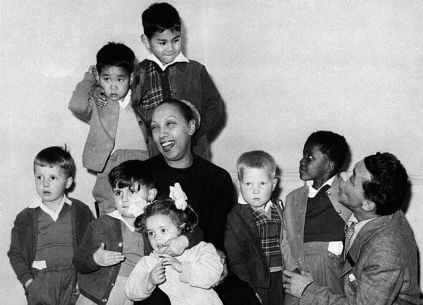 Josephine Baker With Husband and Children