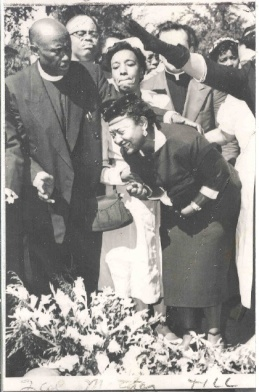 Mamie Till...young Emmett Till's mother at her child's funeral