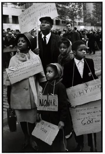 Ruby Dee, Ossie Davis, and their children protest at a CORE (Congress of Racial Equality) peace demonstration, NYC, 1962