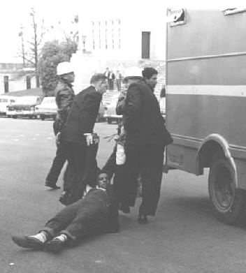 SNCC leader Jim Forman is arrested and dragged away