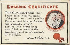 This 'certificate' became popular after the passage of the Racial Integrity Act of 1924 in Virginia